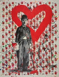 Chaplin by Mr. Brainwash - Unique sized 38x50 inches. Available from Whitewall Galleries